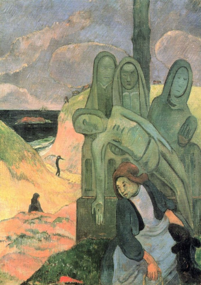 Gauguin, Paul: The Green Christ (Breton Calvary). Fine Art Print/Poster. Sizes: A4/A3/A2/A1 (001537)
